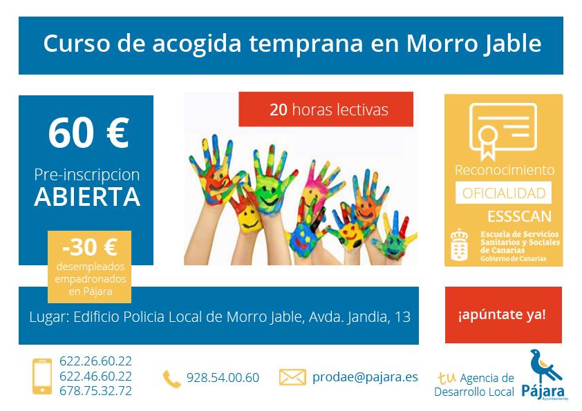 curso de acogida temprana en Morro Jable