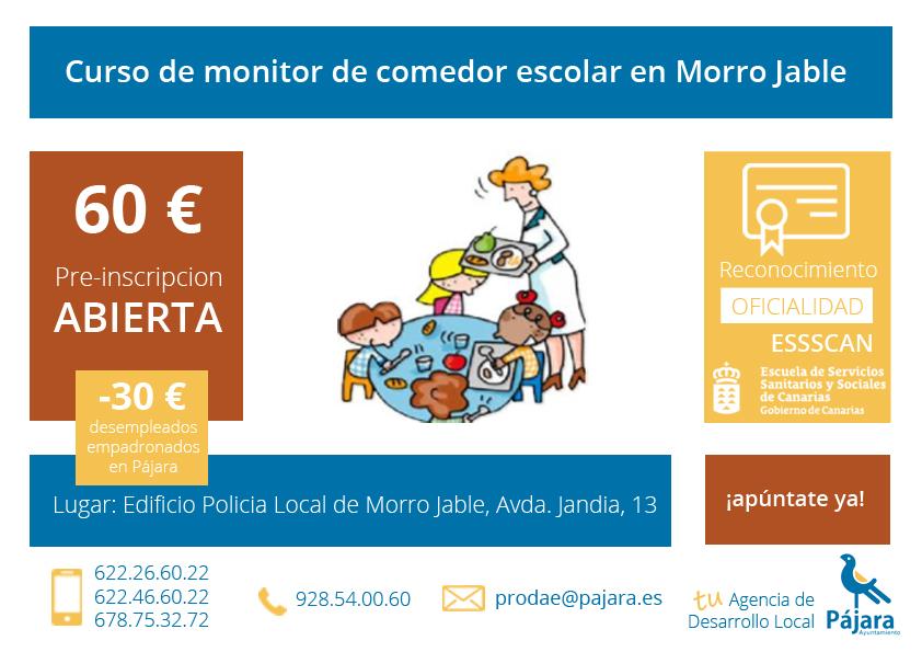 Bienvenid a tu agencia agencia de desarrollo local for Monitor de comedor escolar