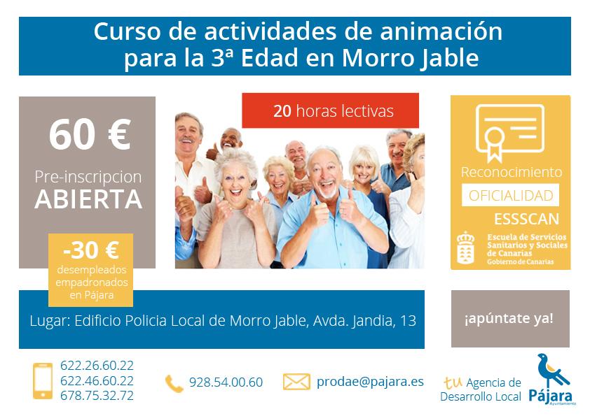 Curso de actividades de aminación para la Tercera edad en Morro Jable