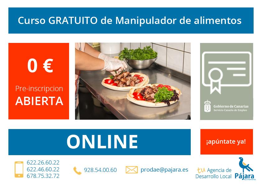 curso de manipulador de alimentos Fuerteventura ONLINE