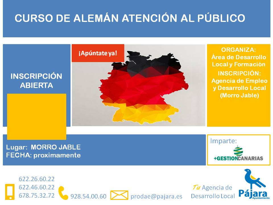 Curso de alemán para atención al público